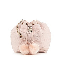 Floozie by Frost French - Light pink faux fur duffle bag