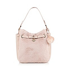 Floozie by Frost French - Light pink faux fur shoulder bag