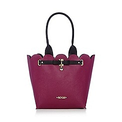 Floozie by Frost French - Dark pink scalloped tote bag