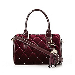 Floozie by Frost French - Dark red quilted velour mini grab bag