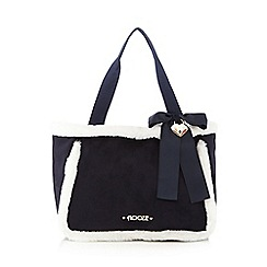 Floozie by Frost French - Navy faux fur trimmed tote bag