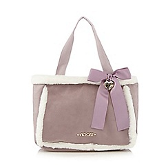 Floozie by Frost French - Lilac faux fur trimmed tote bag