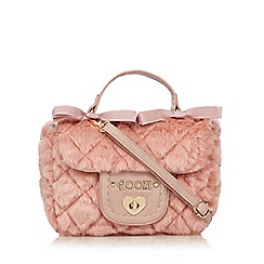 Floozie by Frost French - Light pink quilted faux fur grab bag