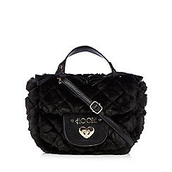 Floozie by Frost French - Black quilted faux fur grab bag