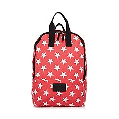 Iris & Edie - Red star canvas backpack