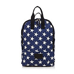 Iris & Edie - Navy star canvas backpack