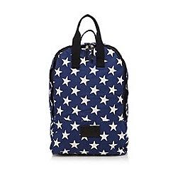 Iris & Edie - Navy star canvas backpack