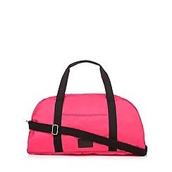 Iris & Edie - Pink neon holdall bag