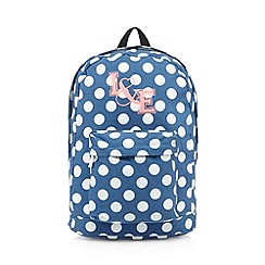 Iris & Edie - Blue spotted backpack