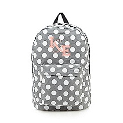 Iris & Edie - Grey spotted backpack
