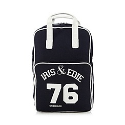 Iris & Edie - Navy logo backpack