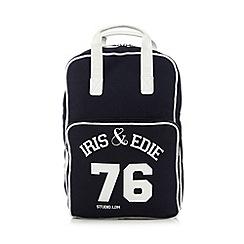 Iris & Edie - Navy logo backpack