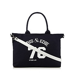 Iris & Edie - Navy logo shopper bag
