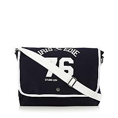 Iris & Edie - Navy logo dispatch bag