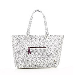 Iris & Edie - White speckled jersey tote bag