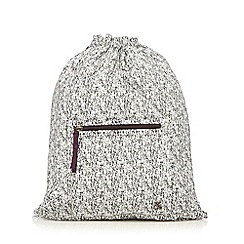 Iris & Edie - White speckled drawstring backpack