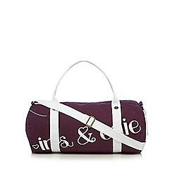 Iris & Edie - Purple logo holdall bag