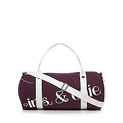 Iris & Edie - Purple logo holdall bag