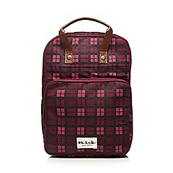 Iris & Edie - Dark purple checked back pack