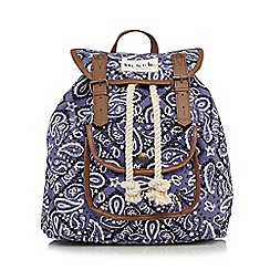 Iris & Edie - Purple paisley backpack