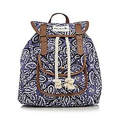 Iris & Edie - Purple paisley backpack
