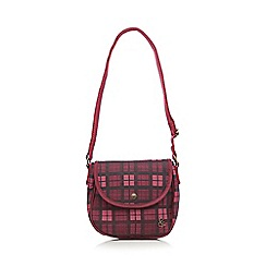Iris & Edie - Dark purple checked cross body bag