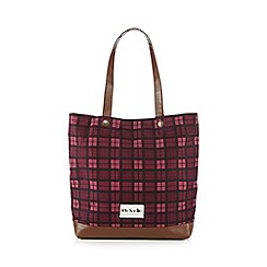Iris & Edie - Pink checked shopper bag