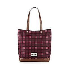 Iris & Edie - Pink checked shopper bag