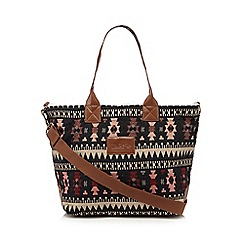 Iris & Edie - Black aztec tote bag