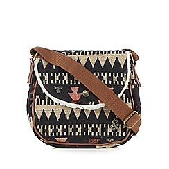 Iris & Edie - Navy aztec cross body bag