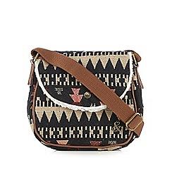 Iris & Edie - Navy aztec cross body bag