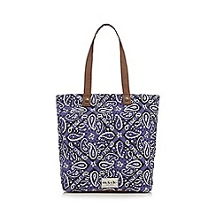 Iris & Edie - Purple paisley shopper bag