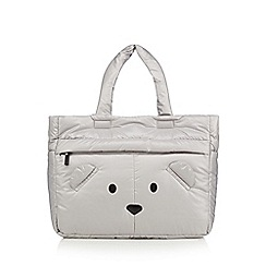 H! by Henry Holland - Designer grey novelty padded shopper bag