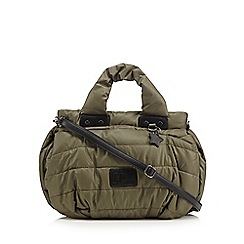 H! by Henry Holland - Designer khaki quilted grab bag