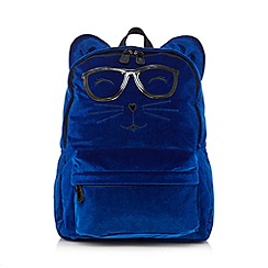 H! by Henry Holland - Designer blue novelty animal glasses backpack