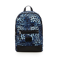 H! by Henry Holland - Designer blue leopard print backpack