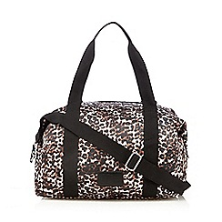 H! by Henry Holland - Designer brown leopard print holdall bag