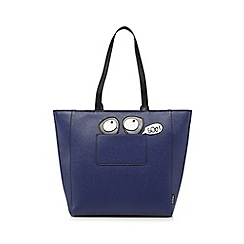 H! by Henry Holland - Navy novelty shopper bag