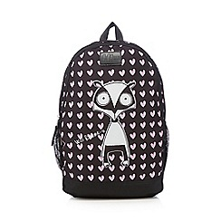 H! by Henry Holland - Black heart racoon backpack