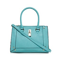 Call It Spring - Turquoise 'Trillas' padlock detail tote bag