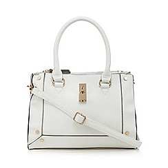Call It Spring - White 'Trillas' padlock detail tote bag