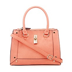 Call It Spring - Coral 'Trillas' padlock detail tote bag