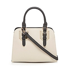 Call It Spring - Ivory 'Shadid' textured tote bag