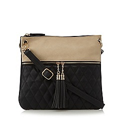 Call It Spring - Beige 'Swarb' quilted panel cross body back