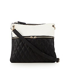 Call It Spring - Black 'Swarb' quilted panel cross body back
