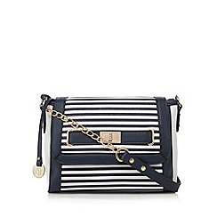 Call It Spring - Navy 'Leopard' striped cross body bag