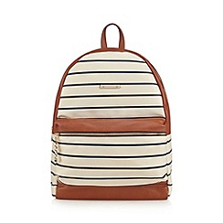 Call It Spring - Cream 'Villacortese' striped backpack