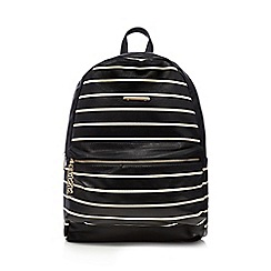Call It Spring - Black 'Villacortese' striped backpack