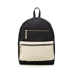 Call It Spring - Black 'Haifley' quilted backpack