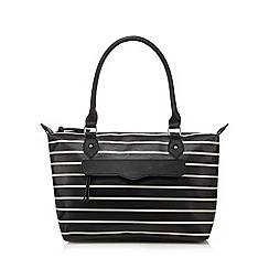 Call It Spring - Black 'Jay' striped shoulder bag